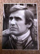 Carlos Reutemann Ferrari F1 Portrait Signed **Large 16 x 12**