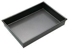 Master Class Non-Stick Deep Large Rectangle Cake Tin Traybake Pan, Grey, 35 x 24