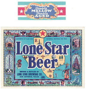 Lone Star Beer IRTP Label with Neck Label