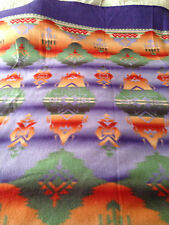 Polar Fleece Fabric Material American Indian Blanket Crafts Sewing Rare NEW