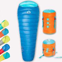 Adult Men Duck Down Outdoor Camping Sleeping Bag Gray/Blue/Red Ultralight Brand