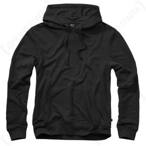 Brandit Hooded Hoodie Sweat Shirt Jumper- Black - Various Sizes