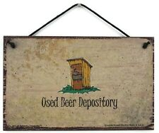 Used Beer Depository 5x8 Sign Restroom Bathroom Toilet Decor Wall Potty Outhouse
