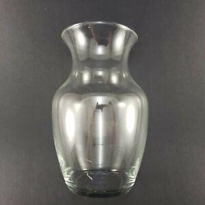 """Ginger Jar Shaped Clear Glass 8"""" Basic Flower Floral Vase"""