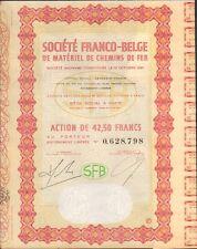 SFB Société Franco-belge de Matériel de CHEMINS de FER (BELGIQUE FRANCE) (L)