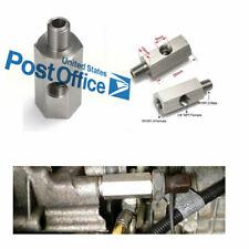 Oil Pressure Sensor 1/8'' Tee to M10X1.0 Adapter Turbo Supply Feed Line Gauge #