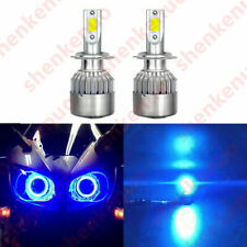 H7 LED Headlight Bulbs For Yamaha YZF-R6 2003-15 YZF-R1 2007-14 8000K Ice Blue K