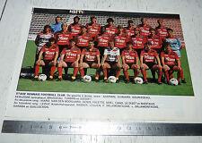CLIPPING POSTER FOOTBALL 1988-1989 STADE RENNAIS RENNES ROAZHON BREIZH