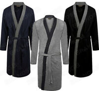 MEN'S 100% COTTON LIGHTWEIGHT JERSEY KIMONO DRESSING GOWN ROBE WRAP SIZES M-3XL