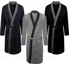 MEN'S 100% COTTON LIGHTWEIGHT JERSEY KIMONO DRESSING GOWN ROBE WRAP SIZES M-3XL