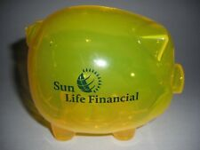 SUN LIFE FINANCIAL CANADIAN INSURANCE INVESTMENT COMPANY ADVERTISING PIGGY BANK