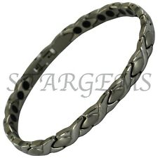 LADIES DOUBLE STRENGTH MAGNETIC PAIN RELIEF BRACELET ARTHRITIS STAINLESS STEEL