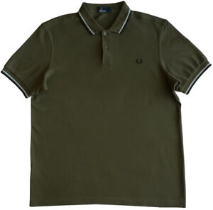 FRED PERRY Polo-Hemd, Gr.L, Logo, Mod.: M3600, Twin Tipped