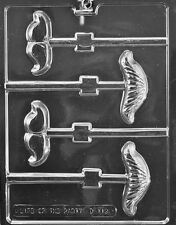 MUSTACHE ASSORTMENT LOLLY POP mold Chocolate Candy fathers day gift dad his