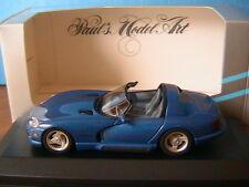 DODGE VIPER CABRIOLET 1993 BLEU MINICHAMPS 430144031 1/43 ROADSTER BLAU METALLIC