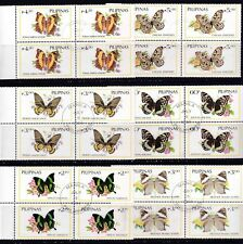 Philippines 1985 Butterfly Insects complete set of 6 values BLOCK/4 Used
