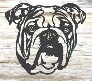 Bulldog - Steel Metal Garden Wall Art