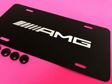 1pc AMG BLACK Aluminum Front License PLATE *RUST FREE 2008-2014
