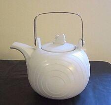Hornsea England Concept Dove Grey Swan Lake Teapot w/ Handle Swan Finial 1980's