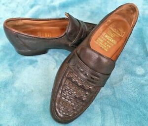 Vintage Brown True Moccasin Bench made Hand Sewn shoes by Grenson Size Uk 7