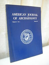 AMERICAN JOURNAL of ARCHAEOLOGY 1977 N°1
