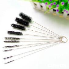 10pc Multifunction Airbrush Spray Brush Tattoo Tube Pipe Cleaner Tool Set