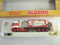 "ALBEDO Volvo FH16 Tankcontainer-Sattelzug ""Kulmbacher EKU Brauerei"" OVP H0 1:87"