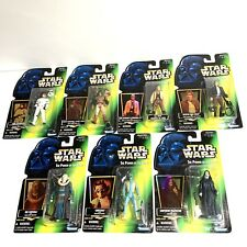 Lot of 7 Vintage 1996 & 1997 Star Wars Power of the Force Action Figures Kenner