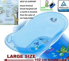 BLUE Aqua Lux Large 102cm Baby Bath Tub With Thermometer By Tega Baby