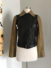 NWT $895 Derek Lam 10 Crosby Leather Jacket Size 2