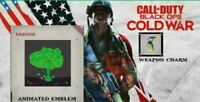 CoD Black Ops Cold War Mt. Dew Card & Charm + 15m x2 XP (2 Items + 2xp!)
