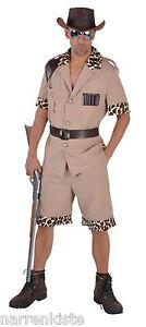 Safari Jungle Jäger Dschungel Urwald Kostüm Herren Großwildjäger Pfadfinder Mann