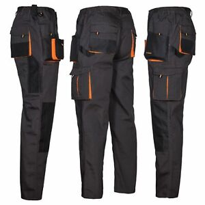 Arbeitshose Bundhose grau schwarz Multifunktion Hose Arbeitskleidung Gr.44 - 64