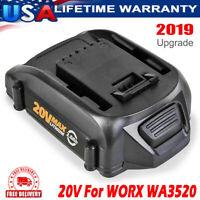 WA3520 For Worx WA3525 3.0Ah 20V Max Lithium Battery WA3580 WA3732 WG151s WG540