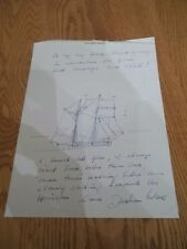 F1 RACING LEGEND  JOCHEN MASS Signed LETTERHEAD WITH SKETCH DRAWING AND NOTE