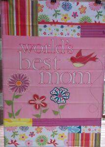 """World's Best Mom Outdoor Garden Flag by Premier 12""""x18"""", #1764"""