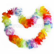 10pcs Colorful Flower Leis New Garland Necklace Party Fancy Beach Dress