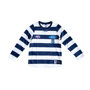Geelong Cats COTTON-ON Junior Home L/S Guernsey by Sporting House