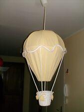 Suspension Luminaire lampe chambre enfant bébé montgolfière jaune blanc