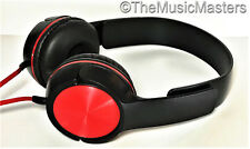 NEW! DJ Style Stereo Headphones HQ Sound Home Audio Studio Phone Tablet PC Red