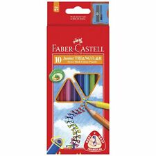 Faber-Castell Triangular Colour Pencils Extra Thick 10pk Art Craft School Kids