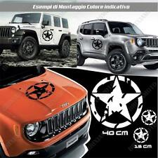 KIT 3 STICKERS STAR BOUE BODYWORK GRAPHIC JEEP RENEGADE OFF ROAD BLANC