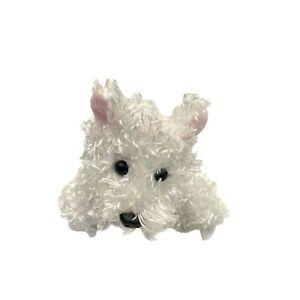Ganz White Terrier Dog Plush Stuffed Fuzzy Toy Online Game Webkinz NO CODE