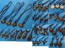 US SELLER- 24 necklaces Gothic boho heppy tribal hippie wholesale bulk jewelry