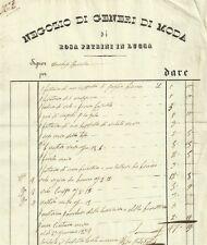 Negozio di Generi di Moda di Rosa Petrini in Lucca 1834