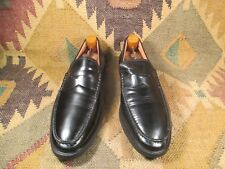 $$$ MIKE KONOS PENNY LOAFER BLACK HIGH-SHINE  LEATHER SIZE 10.5M MADE IN ITALY