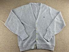Christian Dior Cardigan Sweater Gray Button Up Wool fashion jacket shirt Vtg