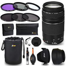 Canon EF 75-300mm f/4-5.6 III f/ Canon EOS Rebel T6s + Accessories KIT