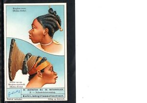 VERY EARLY BLACK TRADE CARD, UNUSUAL AFRICAN HAIR STYLES