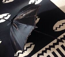 ANTIQUE/VINTAGE VICTORIAN SILK MOURNING UMBRELLA